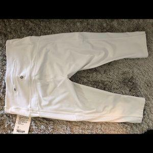 Lulu lemon white crop leggings